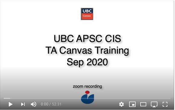 TA Canvas Training